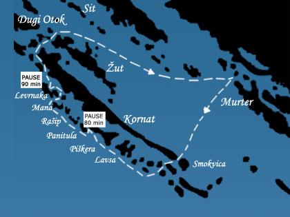 Excursion to National park Kornati by boat Otac Boidar Murter